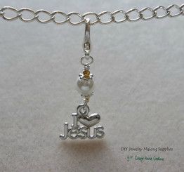 Clip-On I Love Jesus Charms 3pc