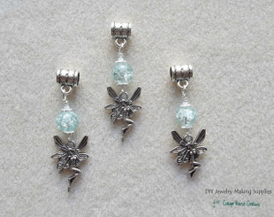 Winter Fairy Charms European Bead Dangle Charms 3pc