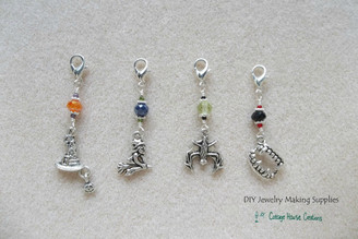 Halloween Witch Bat Hat Vampire Clip-On lobster Charm Dangles