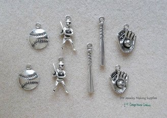 Baseball DIY Charms 8pc set