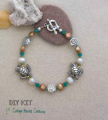 Sea Turtles Fresh Water Pearl Bracelet Kit