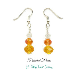Earrings Candy Corn Crystal Finshed Pieces Earrings
