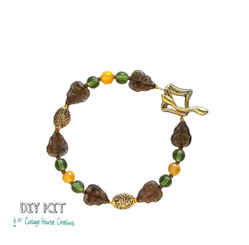 "Autumn ""Changing Leaves"" Fall Colors Czech Bead Bracelet Making Kit DIY"