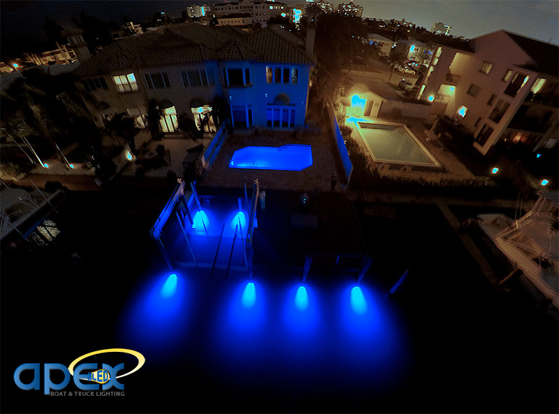 Here we have a residential dock located on a canal leading to the intracoastal in Fort Lauderdale Florida. We installed 8 OceanLED D16 underwater lights to ...  sc 1 st  Apex Lighting & Dock Lighting Ideas - ApexLighting