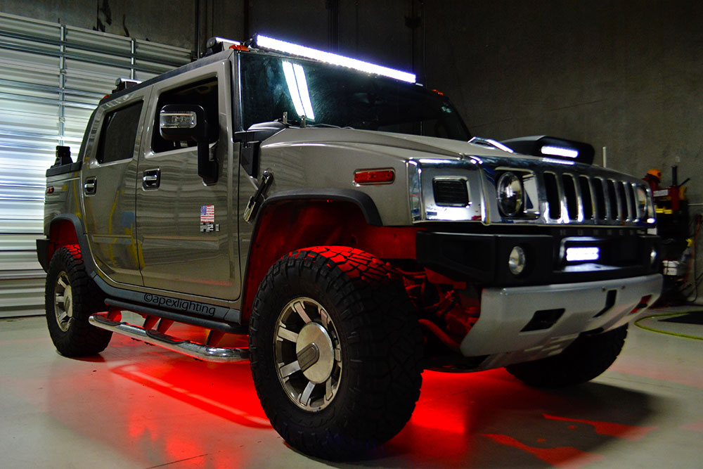 Hummer H2 gets lots of Rigid LED Lights Installed - ApexLighting