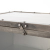 Element Industrial Iron Media Console-Nickel with glass doors