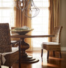 "60"" Round Pedestal Dining Room Table in Dark Brown"