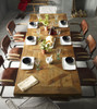 English Castle Dining Trestle Dining Room Table