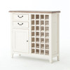 Cottage Reclaimed Wood Wine Cabinet-White