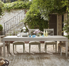 "California Rustic White Oak Extending Dining Table 114"""