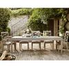 California Rustic Oak extendable dining table