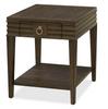 California Rustic Espresso Oak 1 Drawer End Table