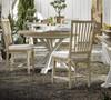 Coastal Beach White Oak round extension dining table