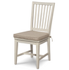 Coastal Beach White Oak Round Room Set chair