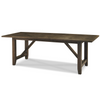 French Oak Extendable Farmhouse Kitchen Table- Brownstone