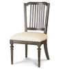 French Oak Ladder Back Upholstered Cafe Dining Chair