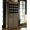 French Oak tall bar cabinet
