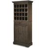 French Brown Oak Tall Wine Bar Cabinet