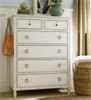 Country-Chic Maple Wood White 6 Drawer chest of drawers