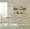 Country-Chic Woven Wicker Back Upholstered Kitchen  Arm Chair