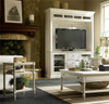 Country-Chic Maple Wood White Living Room End Table With Shelf