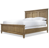 French Modern Hickory Wood King Panel Bed Frame