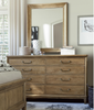French Modern Light Wood 8 Drawer Double Dresser