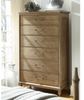 French Modern Light Wood Tall Bedroom Chest of drawers