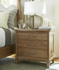 3 Drawers nightstand with charging station