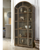 French Modern Industrial Vintage Metal and Glass Arch Display Cabinet