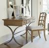 French Modern Slip Upholstered Dining Side Chair