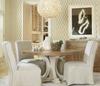 French Modern Slipcovered Skirt Upholstered Dining Chairs