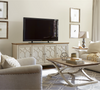 French Modern Light Wood 4 Door Entertainment Media Console