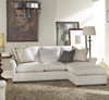 Haven Belgian Linen Upholstered Wing back Sectional Sofas