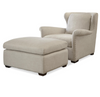Haven Belgian Linen Upholstered Accent Ottomans