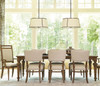 Maison Fluted Leg french extending dining table
