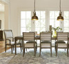 Playlist Vintage Brown Oak Upholstered Dining room armchair