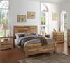 Angora Natural Reclaimed Wood King Platform Beds