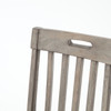 Cintra Rustic Reclaimed Wood Dining Room Chairs- Gray
