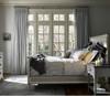 Sojourn French Upholstered King Size Panel Bed Frame