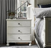 Sojourn French Country White 3 Drawers Nightstand with charging station