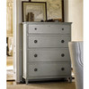 Sojourn St. James French Country 4 Drawers Tall Chest - Gray