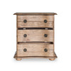 French Solid Wood 3 Drawer Nightstand