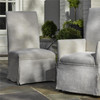 Sojourn Linen Upholstered Skirted Dining Side Chairs
