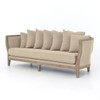 Hayes Wood Frame Sofa in Hyde Clay
