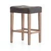 Ashford Destroyed Black Leather Counter Stool