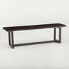 """Live Edge Solid Wood & Iron Dining Bench 56"""""""