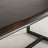 Live Edge Solid Wood & Iron Dining Table 72""