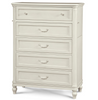 Rosalie Kids 5 Drawers Tall Chest - White