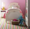 Rosalie Kids Twin Size Panel Bed - White